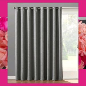 Sonoma Dynasty Grommet Patio Curtain 100x84 Gray